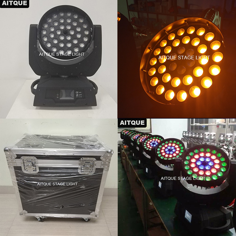 (Flycase)DJ light copy robe 600 led wash moving head wash led 36x18w rgbwa uv moving head wash zoom uv strobe lyre wash