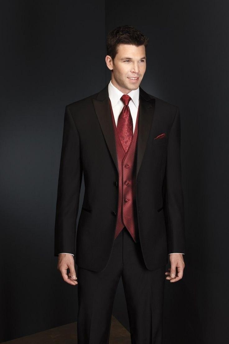 pantalones bodacenaTrajes esmoquin mejor del groomsmen pico lapel tie hombre Made novio Custom chaqueta b83 Vest novio satén 4qTxOw0H