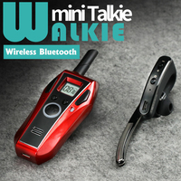 MINI Walkie Talkie Handheld Bluetooth Headset Wireless Earphone Small Size Two Way Radio Wireless Headphones Buletooth Earpiece