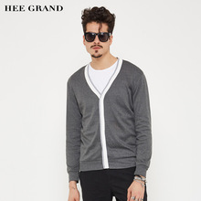 HEE GRAND font b Men b font Stylish Cardigan V Neck Thin Wool 2017 New Arrival