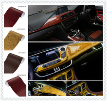 Filme interior do carro grão de madeira papel de cor brilhante superfície do console para Kia KOUP eco Pro-cee-d cee -d Rondo Kue Kee(China)