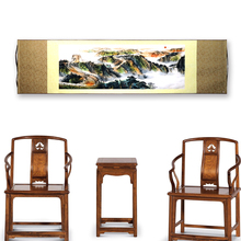 Tangfoo Chinese Characteristics Gift Decoration Painting Great Wall Sun Silk Scrolls Of Traditional Craft Decor