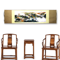 Tangfoo Chinese Characteristics Gift Decoration Painting Great Wall Sun Silk Scrolls Of Traditional Chinese Painting Craft Decor