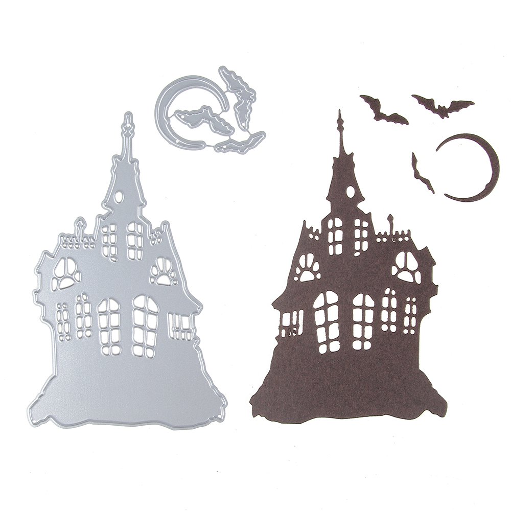 House Pattern Metal Cutting Dies Stencils DIY Scrapbook Embossing Album Paper Card Decorative Castle Cutting Dies Metal 80*127mm