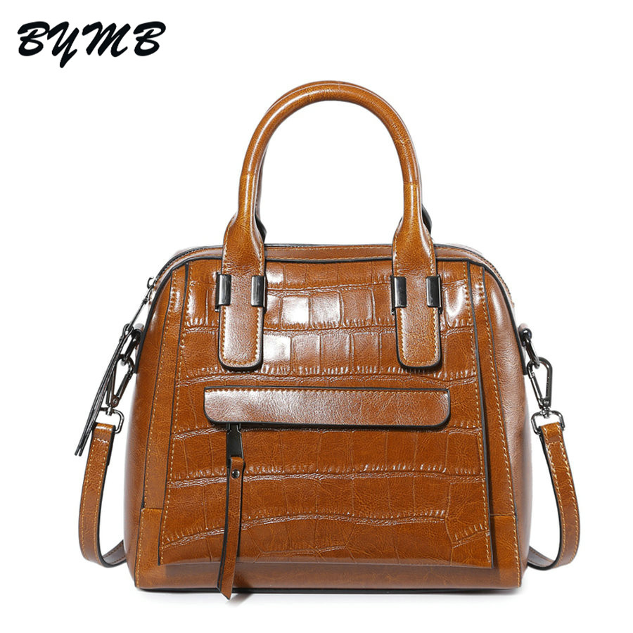 e055af11ed1c 2018 Luxury Crocodile Pattern 100% Genuine Leather Bags Women Handbag bolsa  feminina dollar shop online handbags Fashion Totes-in Top-Handle Bags from  ...