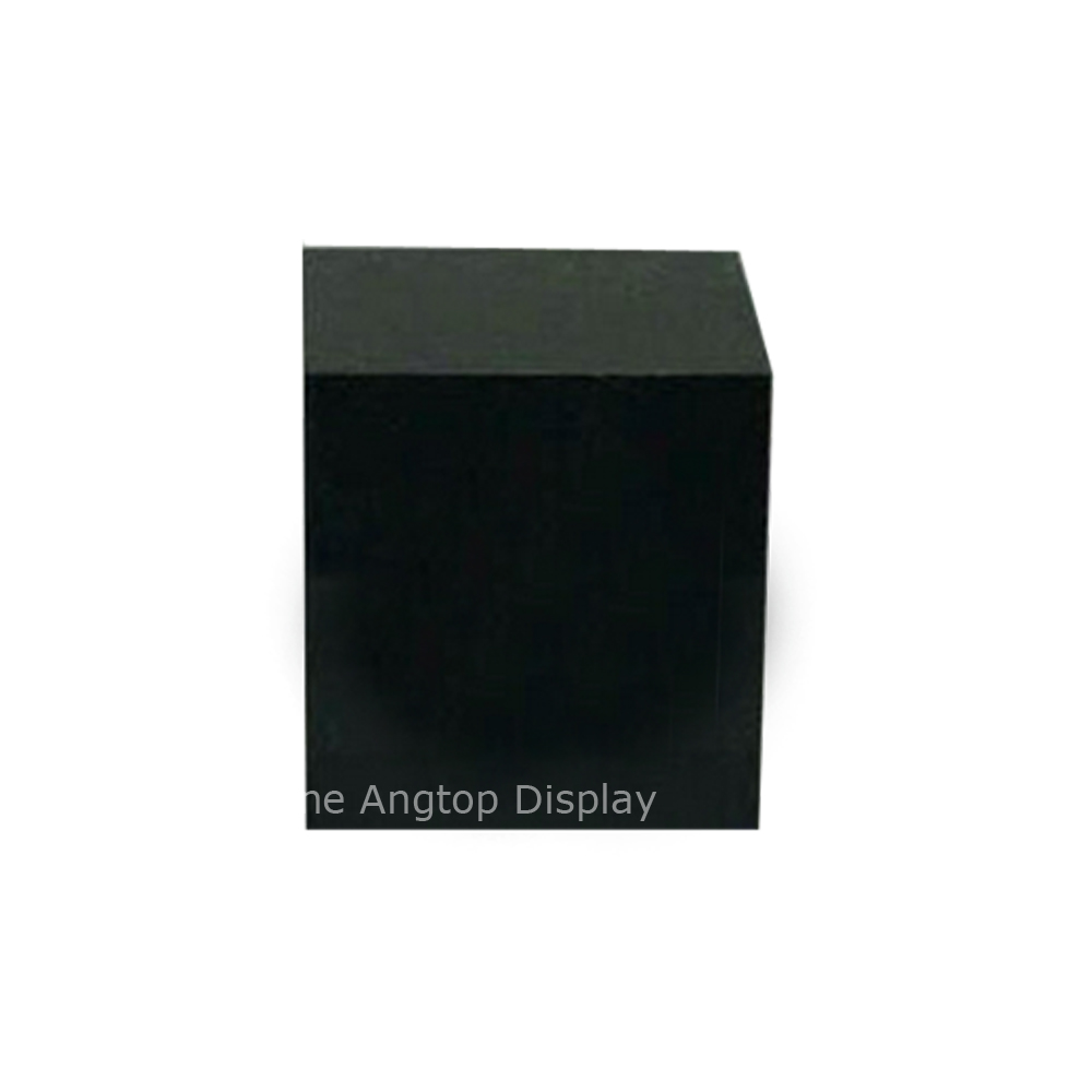 Acrylic Ring Display Block Countertop Jewelry Showcase Black Cube