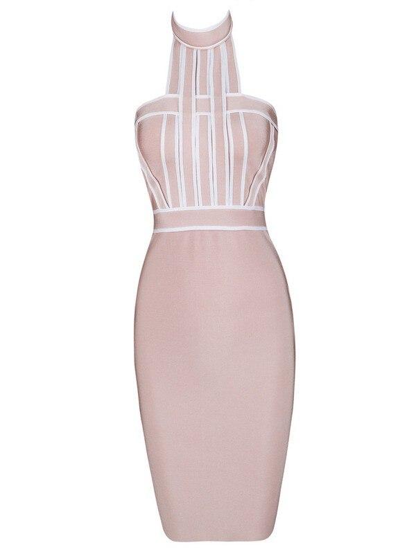 Wholesale 2017 Summer Halter Sleeveless Back open women tight prom party dress Celebrity Mini bandage Dresses