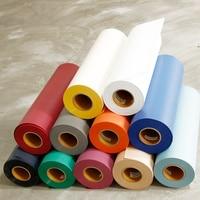 Flock Heat Transfer Vinyl 20x83.3ft Roll T Shirt IRON ON ALL Cutting Machines 50cm x 25m 11 Colors Choosen