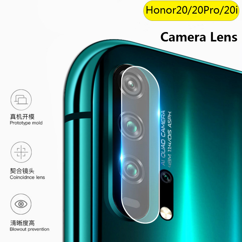 XINDIMAN 2pcs Lens Protector Glass on for huawei honor20 HD Clear Tempered Glass for huawei honor20i honor20pro Back <font><b>camera</b></font> lens image