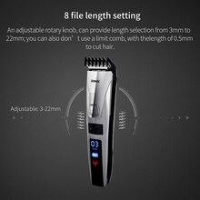 Оригинальная Умная машинка для стрижки волос для мужчин и детей, быстрый перезаряжаемый ЖК-Электрический триммер, машинка для стрижки бороды, тример, парикмахерский набор инструментов P47