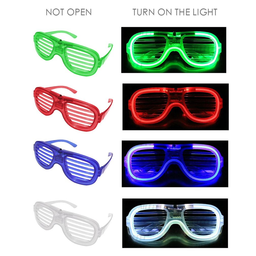 1pcs New Arrival Led Flash Glasses Toy Shutter Cold Night Glasses Nightclub Concert Party Festival Drop Shipping Hot Sale