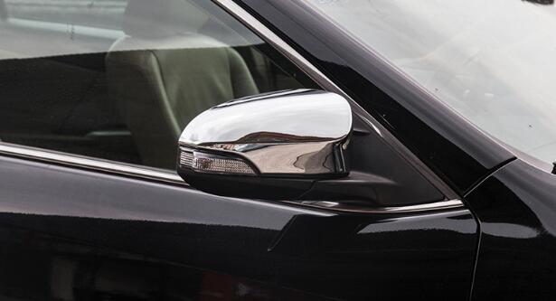 Étoile supérieure ABS chromes 2 pièces protection de décoration de miroir de porte latérale de voiture pour Toyota Camry 2012-2017