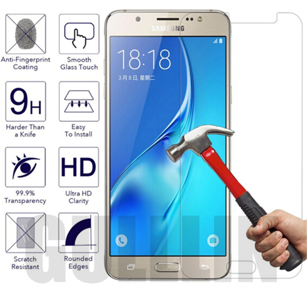 0 26mm Ultra Silm Tempered Glass For Samsung Galaxy J1 J3 J5 J7 Mini 2016 2018 A3 A5 A7 2017 9H Screen Protector Protective Film in Phone Screen Protectors from Cellphones Telecommunications