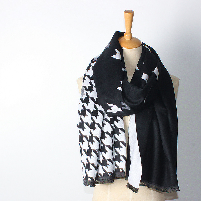 Houndstooth Reversible Scarf | Blanket Scarves | Upto 60% off Now
