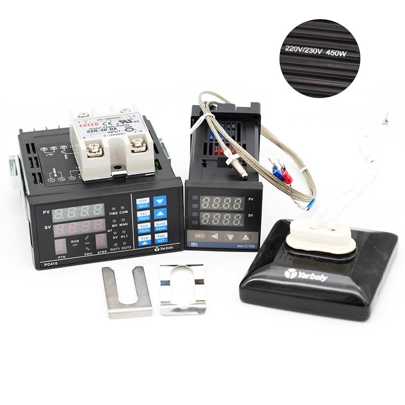 PC410 PID Temperature Controller Panel REX C100 Max 40A SSR K Thermocouple Probe Ceramic Heat Plate