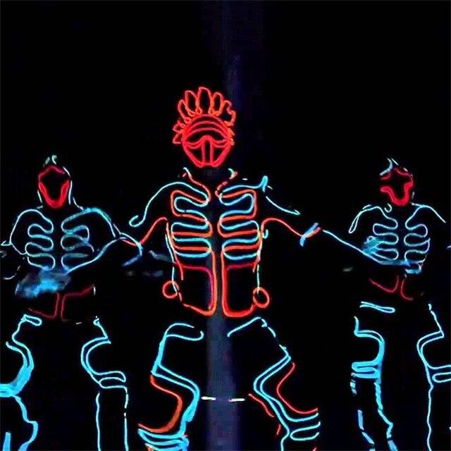 Wholesale Led Growing Flashing EL Wire Dance Costume Robot Suit ...