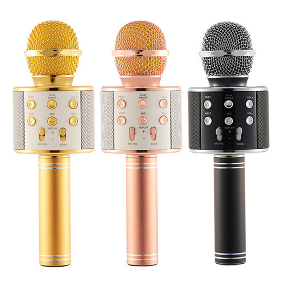 ws 858 wireless bluetooth karaoke handheld microphone usb ktv player bluetooth mic amplifier. Black Bedroom Furniture Sets. Home Design Ideas