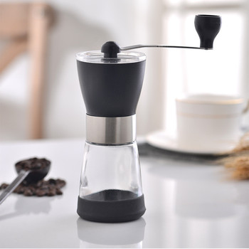 цена на Manual Coffee Grinder Washable Ceramic Core Handmade Mini Coffee Bean Burr Grinders Mill Kitchen Tool portable coffee grinder