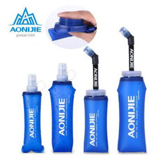 AONIJIE 250ml 500ml Sports BPA Free Foldable Soft Water Bag Bottle Kettle Flask Hydration Pack Bladder