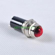 1pc Brass Indicator LED Pilot Light Red Bulb Lam for Tube Amplifier socket