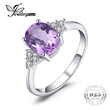 Jewelry Accessories - Fine Jewelry - JewelryPalace Classic Oval 2.8ct Created Alexandrite Sapphire Anniversary Rings For Women Solid 925 Sterling Silver Fine Jewelry