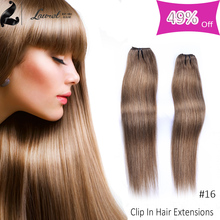 Hot Selling Peruvian Virgin Hair Straight Clip In Human Hair Extensions 20 Inch 9 Colors In Stocks The Best Hair Store Online