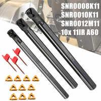 3 set SNR0008K11 + SNR0010K11 + SNR0012M11 Tornio Noioso Bar In Acciaio Inox 3 pz chiave + 10x 11IR A60 Inserto chiave