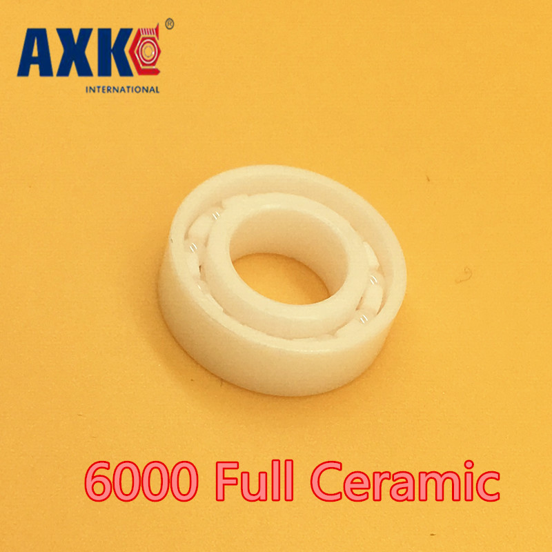 Axk 6000 Full Ceramic Bearing ( 1 Pc ) 10*26*8 Mm Zro2 Material 6000ce All Zirconia Ceramic Ball Bearings 15268 ceramic wheel hub bearing zro2 15268 15 26 8mm full zro2 ceramic bearing