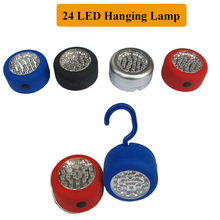 24 LED Strong Light Hanging Lamp Tent Light Camping Flashlights Back with Magnet Portable Mini Size Tool Torch Free Shipping