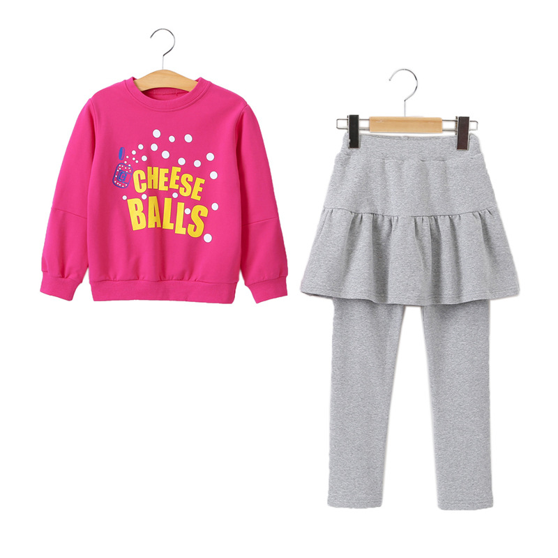 MAGGIE'S WALKER Kids Girl Clothing Set Children Pants Suit Fashion Sweater Tops 2pcs Clothes Sets Baby Girls Casual Clothes fashion kids baby girl dress clothes grey sweater top with dresses costume cotton children clothing girls set 2 pcs 2 7 years