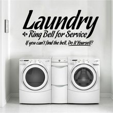 Modern laundry Wall Stickers Nordic Style Home Decoration Vinyl Decals For Laundry Room Stickerremovable mural