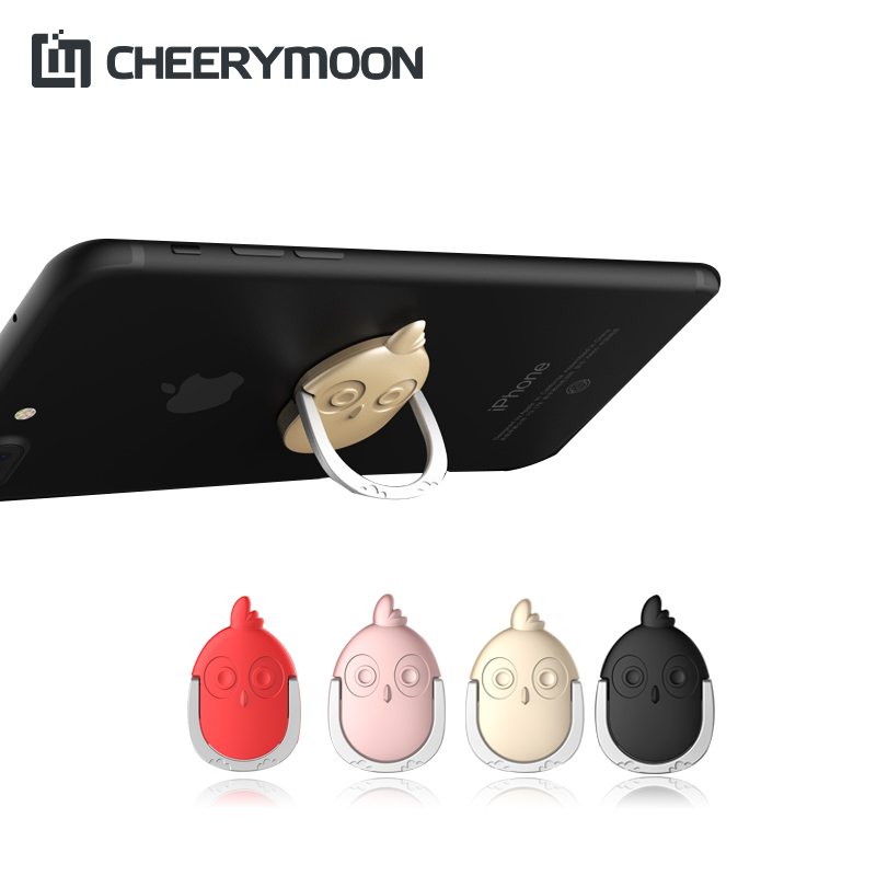 CHEERYMOON Chicken Ring Strong Suction Holder Universal Mobile Phone 360 Rotary Finger Grip Brackets Stand For iPhone Samsung