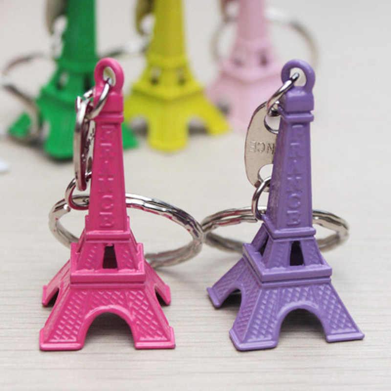 Thời trang Gốc Mới Đầy Màu Sắc Eiffel Tháp Keychain Cho Phụ Nữ Cổ Điển Quyến Rũ Tháp Vòng Chìa Khóa Nữ Trang Sức Quà Lưu Niệm Quà Tặng