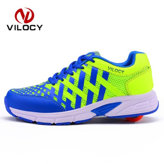 New Children Shoes Wheels Manual Super Light Adult Kids Outdoor Shoes High Quality Flying Sneakers Roller Skate Shoes Zapatos