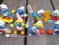 Alta Calidad Pitufina Clumsy Figuras, 8 unids por Juego, muñecas de los niños, elfos Papa Acción Juguetes para niños