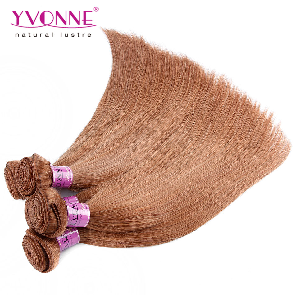 ФОТО 3Pcs/lot Peruvian Straight Hair Bundles,100% Human Hair Weave,Aliexpress YVONNE Hair Products,Color #30