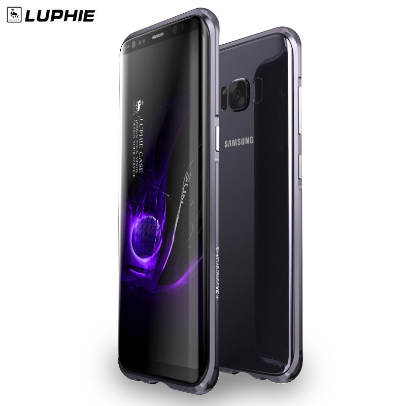 LUPHIE for samsung galaxy s8 plus Aluminum Metal Frame phone Bumper case for samsung s8+ Shockproof slim phone border cases
