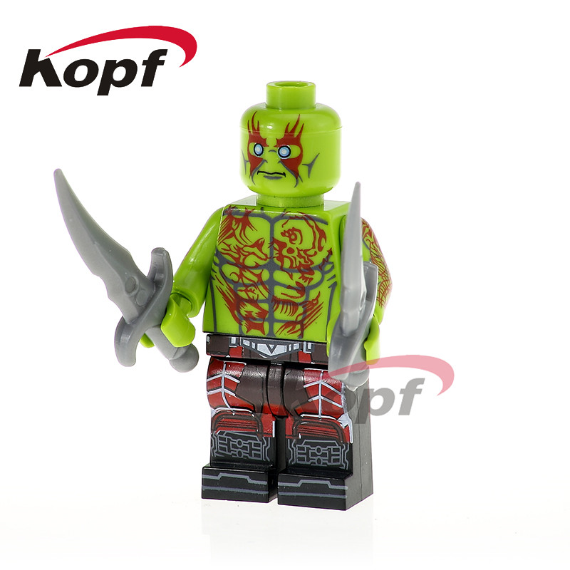 PG1179 Super Heroes Drax The Destroyer Guardians Of The Galaxy Yondo Building Bricks Best Collection Action Children Gift Toys
