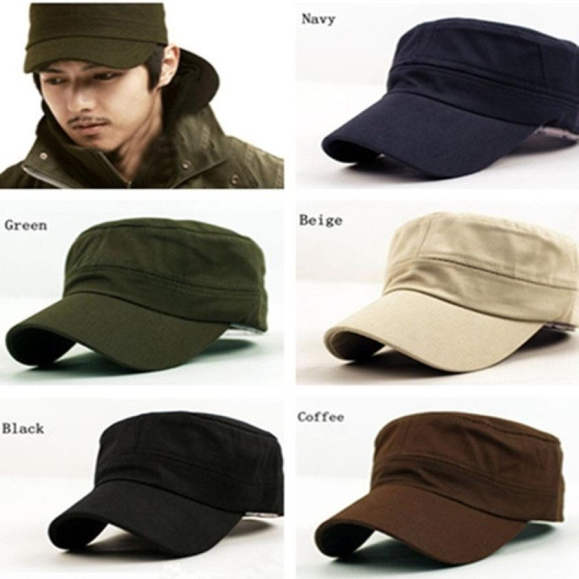 Classic Plain Vintage Army Cadet Style Cotton Cap Hat Adjustable hats for men cap men baseball cap men casquette homme aetrue winter beanie men knit hat skullies beanies winter hats for men women caps warm baggy gorras bonnet fashion cap hat 2017