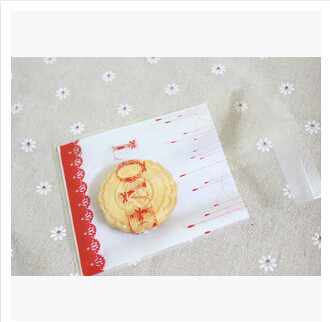 PASAYIONE Romantic Plastic Bags Self-adhensive Stand Up Pouch Disposable Packaging For Cookie Moon Cake Candy For Valentine Dec