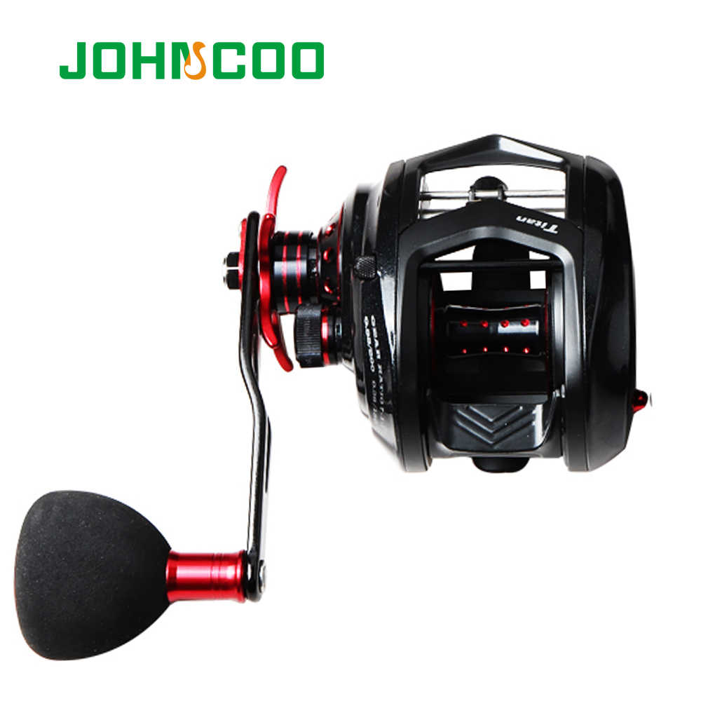 Johncoo Vissen Reel Voor Big Game 12 kg Aluminium Body Max Power, 7.1: 1 voor licht jigging reel Casting reel fishing 11 + 1