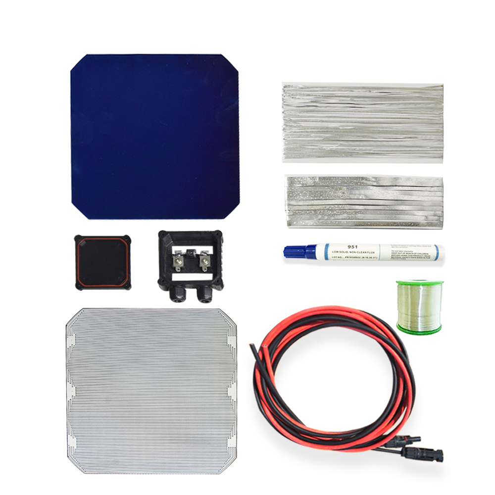 Solarparts 25W DIY your flexible solar panel kits with 125*125mm quality solar cell use flux pen+tab wire+bus wire experiments.