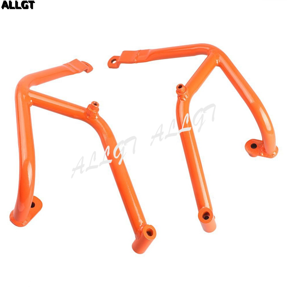 Barres de Protection contre les accidents de moto ALLGT protections de moteur pour KTM DUKE 390 Orange