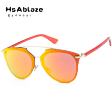 HsAblaze Eyewear 2017 New Fashion Luxury Cat Eye Sunglasses Women Brand Designer Coating Sun Glasses occhiali da sole donna