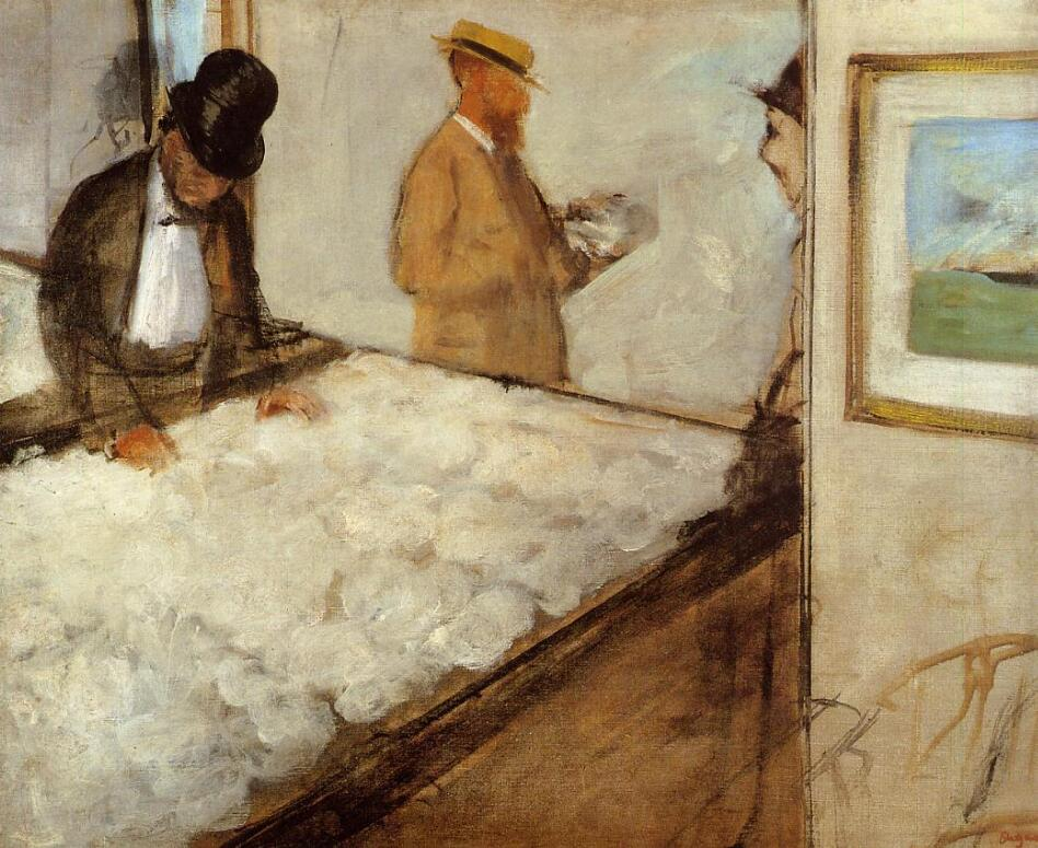 High quality Oil painting Canvas Reproductions Cotton Merchants in New Orleans (1873)  By Edgar Degas hand painted