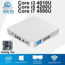 Intel Core i5 4200U Mini PC Barebone Win 10 Cooling Fan Mini Computer Desktop i3 4010U i7 4500U Computador HD Graphics HTPC HDMI