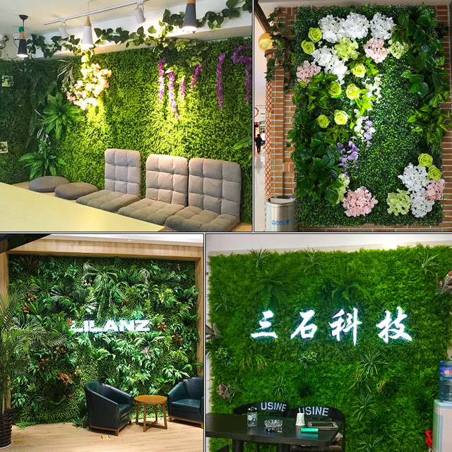 Luyue Plant Wall Artificial Lawn Boxwood Hedge Garden Backyard Home Decor Simulation Gr Turf Rug
