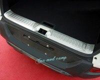 For Renault Kadjar 2015 2016 2017 Stainless Steel Inner Rear Bumper Protector Guard Plate Trim 1pcs
