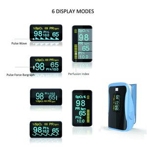 Image 5 - PRCMISEMED Household Health Monitors Heart Rate Monitor Finger Medical Oxygen SPO2 Pulse Oximeter Finger Meter Sky Blue