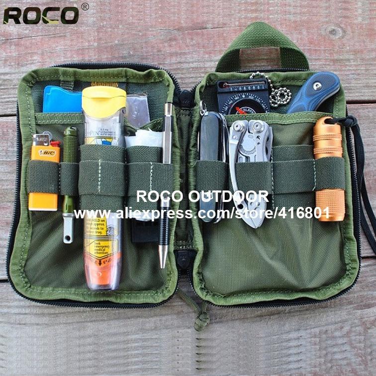 Tactical Molle Waist Pack MOLLE Compatible Tactical Pocket Organizer Tactical Wallet Bag Military Combat E.D.C Utility Bag Black gadget